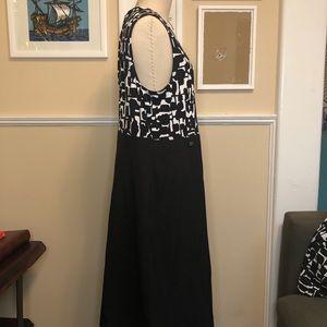 Black/white Stretch Print Dress